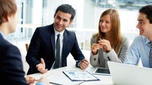 reunión con un cliente potencial